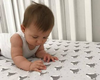Fitted Cot Sheets - Mr Fox- Baby Cot/Toddler Bed