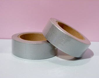 Masking tape Washi Tape silver - Christmas gift - packaging - decoration - wedding