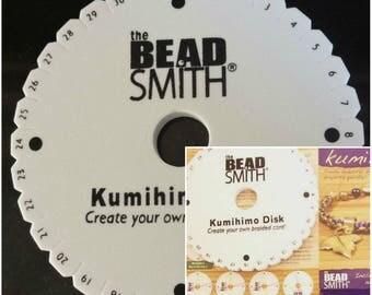 Beadsmith Kumihimo Braiding Disk & Instructions 6 Inch x10mm Round