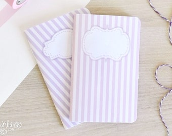 Pastel pink/purple vintage notebook