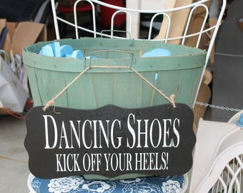 Wedding Dancing Shoes Sign