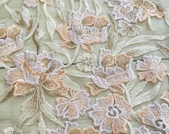 Newest fabric floral lace fabric highly quality tulle wedding dress fabric fashionable organza lace fabric french lace fabric