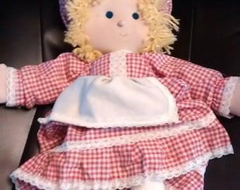 Vintage 1980s rag doll