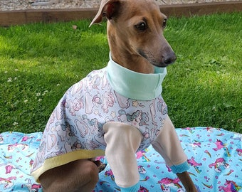 Stylish Italian Greyhound jersey top, perfect for sunny spring day designed and made by UniDog