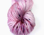 Salem Sock | Winter Rose | Sock Fingering Weight Yarn | Pink Purple Red Speckled | Hand Dyed | Superwash Merino Nylon