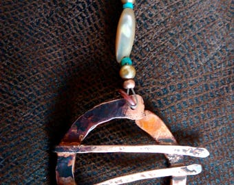 Hammered Copper Knot Necklace