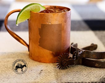 American Mule Copper Mug (State-Series Engraved Edition)