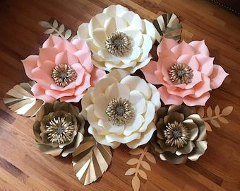 6pcs Paper Flower Set