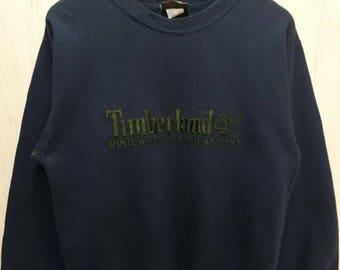 Vintage 90s Timberland Jumper Sweatshirt Dark Blue Color