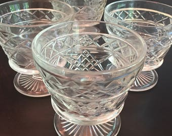Vintage Indiana Clear Glass Sherbet Glasses