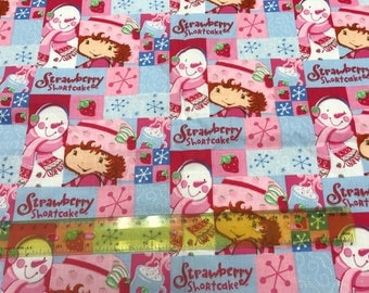 108 inches Classic Strawberry Shortcake and Snowman Winter Wishes fabric