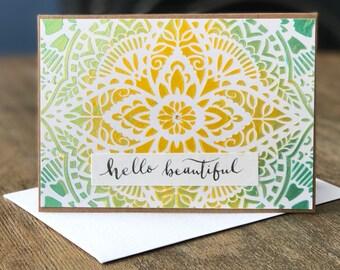 Handmade Card - Hello Beautiful