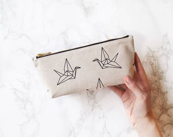"""Cosmetic bag, cosmetic bag """"Paperbirds"""", S"""