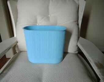 Vintage Rubbermaid Sky Blue Color Bath Wastebasket