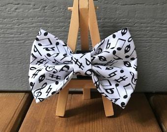 Music Dog Bow Tie