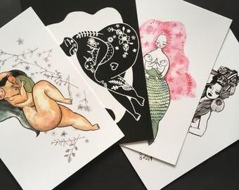 Mama pregnancy & breastfeeding postcard set