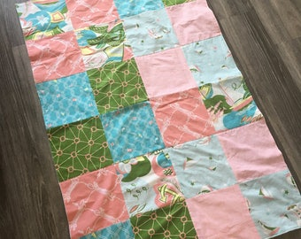 Nautical Style Girl's Baby Quilt