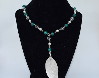 Beaded Emerald color Necklace