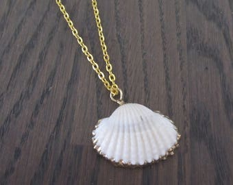 Necklace with pendant shell