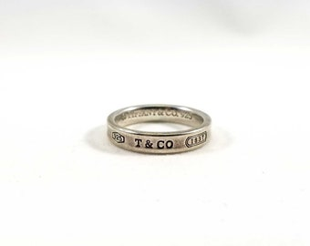 Tiffany & Co. Sterling Silver Thin 1837 Ring