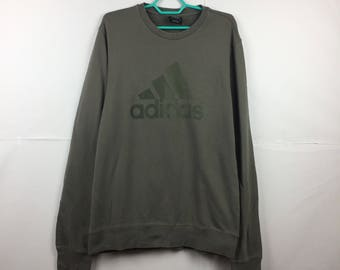 Rare Adidas big spellout logo long sleeves tshirt / the three stripe brand / fit to Medium size