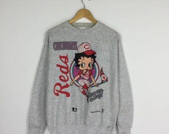 Vintage 90s Betty Boop Sweatshirt X Cincinnati Redsox NFL Reds Sweater