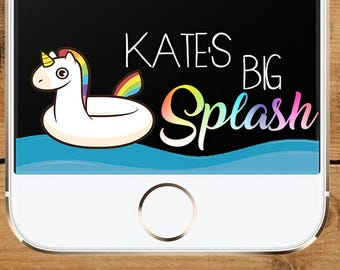 Make A Splash Unicorn Pool Party Snapchat GeoFilter