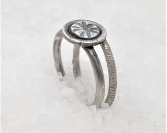Stackable minimal rings, stacking rings, oxidized silver ring.