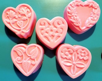 Handmade Scented Valentine Soaps