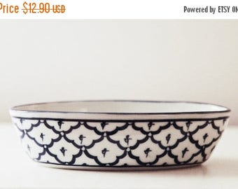 ON SALE Vintage Portuguese Design Blue & White Bowl