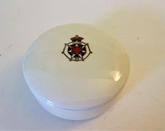 Vintage IODE Trinket Box Porcelain Trinket Box