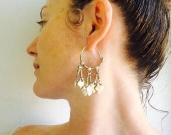 Kuchi Vintage boucles d'oreilles.  Joli et léger! Costume de danse du ventre