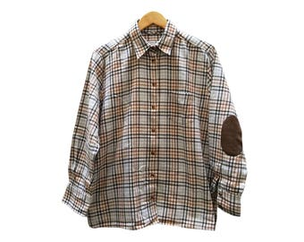 Vintage shirt//small size//Womens shirt//vintage clothing//check//vintage clothing//gift for woman//checkered shirt