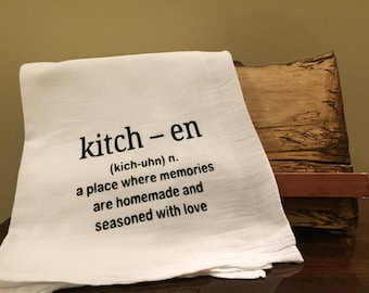 Funny kitchen towel, flour sack kitchen towel, Kitchen