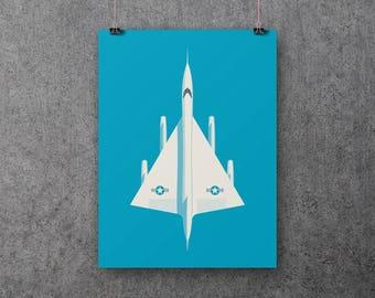 Convair B-58 Hustler US Air Force Supersonic Jet Bomber Poster Art Print