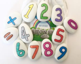 Number, Numbers, Story Stones, Set, Counting, Aid, 123, Numeracy, Learn to Count, Teacher Resources