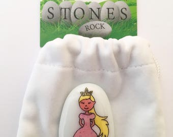 Princess, Friendship, Worry Stone, Keepsake, Friend, Best, Cute, Sensory Toy, Kids Fidget Toy, Fiddle Toy, Sparkly, Lucky Stone, Girls, Boys