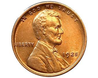 1925 Lincoln Wheat Cent - Choice BU / MS / Unc