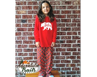 Matching Family Pajamas, Toddler and Youth sets, bear pyjamas, Christmas Eve set, holiday pajamas, bear family pajamas, family pajamas, pj