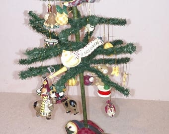 On sale Debbie Mumm 12 days of Christmas mini tree with ornaments.