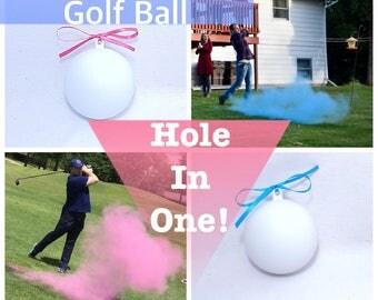 GOLF BALL Gender Reveal Gender Reveal Ideas Golf Ball Reveal Gender Reveal Ball Gender Reveal Party Reveal Ball Girl Boy
