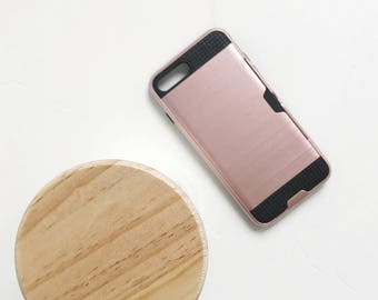 Shockproof (iphone 7 plus) case with credit card slot