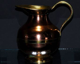 """6.25"""" Copper and Brass Pitcher"""