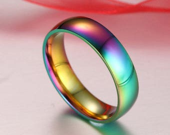 LGBT+ Gold Plated Rainbow Pride Ring + FREE SHIPPING! *Limited Time Offer*
