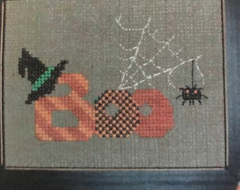 "One More Stitch ""Boo"" counted cross stitch pattern"
