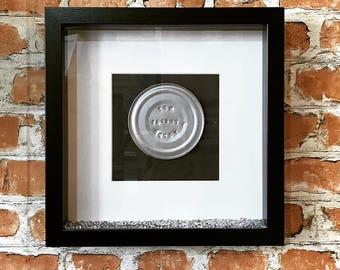 Tin 10 Year Anniversary Embossed Frame