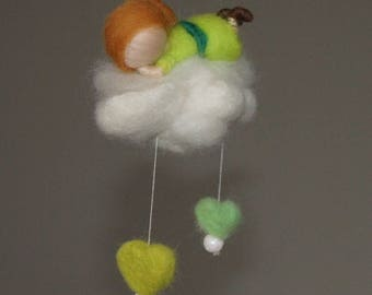 Small felted mobile