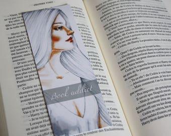 Bookmark Art drawing print, bookaddict, quote, bookstagram