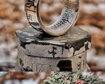 Peace Dollar 90% Silver Coin Ring