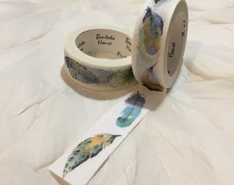 Gorgeous BOHO FEATHER Washi Tape
